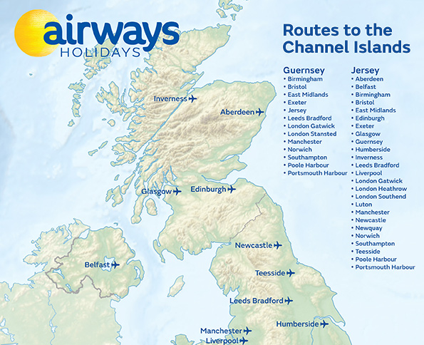 Routes to the Channel Islands